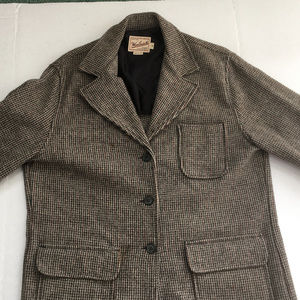 vintage rugged outdoor wear overcoat  woolrich